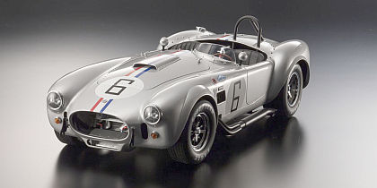 Shelby Cobra 427 S/C #6 • Silver with Red, White & Blue stripes • #KY08632S