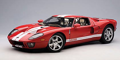 FORD GT • Mark IV Red with White stripes • #AA12102