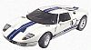 Ford GT - Centennial White with Blue Stripes - MotorMax - Item #MM73001W