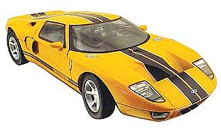 Item #MM-73001Y Ford GT yellow with black stripes 2005 street car