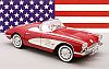 1958 Corvette Convertible & removable Hard-Top • Red on White • #REV08454