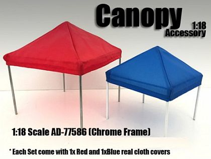 Canopy Diorama Set Chrome • 1/18 Scale Hobby Accessory miniature cars for sale • #AD77586
