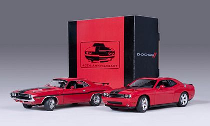 1970 & 2010 Dodge Challenger • Red • 40th Anniversary set • #50832 HW61