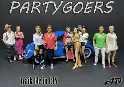 Partygoers Figurines 1:18 scale • various styles • #ADParty