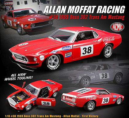 1969 Ford Mustang Boss 302 Coca-Cola #38 Trans-Am • Allan Moffat First Victory • #A1801828