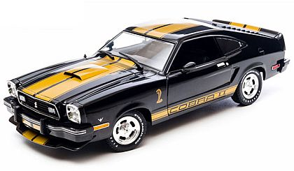 1977 Ford Mustang II Cobra II • Black with Gold stripes • #GL12865