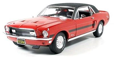 1968 Ford Mustang GT/CS California Special in Candy Apple Red with Black Vinyl top, Item #GL50803-06