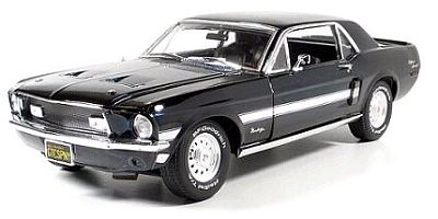 1968 Ford Mustang GT/CS California Special in Black Chrome, Item #GL50804-06