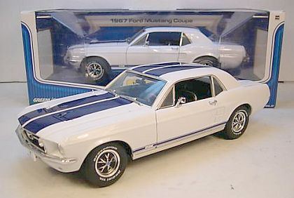1967 Mustang GT Coupe - White with Blue Stripes - Limited Edition of 750 Pieces - #GL50822