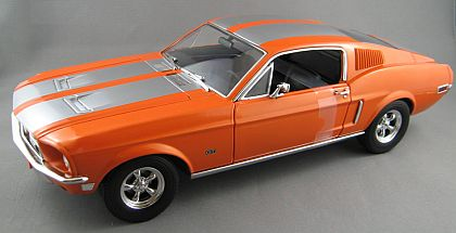 1968 Ford Mustang GT • Orange with Silver stripes • #GL50830
