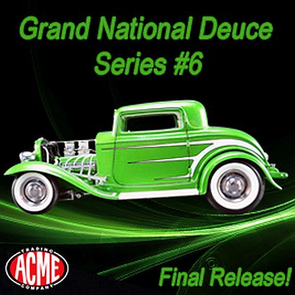 '32 Ford 5-Window Coupe • Synergy Green Metallic • Grand National Deuce Series • #A1805011