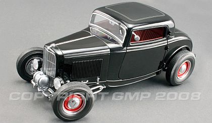 1932 Ford Three Window Deuce Coupe - Gloss Black - #G1805011
