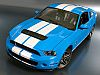 2010 Shelby Mustang GT500 • Grabber Blue with White stripes • #GL12815