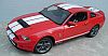 2010 Shelby Mustang GT500 • Torch Red with White stripes • #GL12816