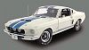 1967 Shelby Mustang G.T.350 white with blue stripes, Item #ED703