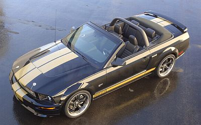 2007 Shelby GT-Hertz Convertible - Black with Gold stripes - Item #DC07GTH01