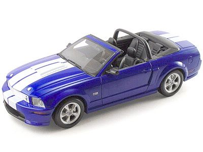 2008 Shelby GT Convertible - Blue with Silver stripes - Item #DC08GT01