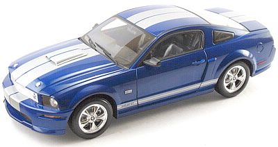 2008 Shelby GT - Blue with Silver stripes - Item #DC08GT02