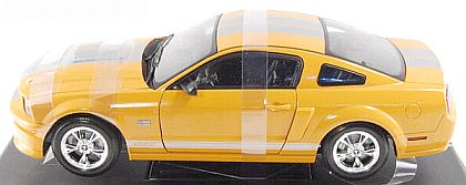 2008 Shelby GT - Orange with Silver stripes - Item #DC08GT03