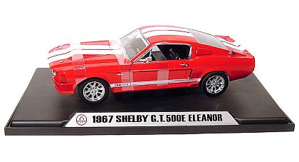 1967 ELEANOR Shelby Mustang G.T.500E - Red with White stripes - Item #DC500E03