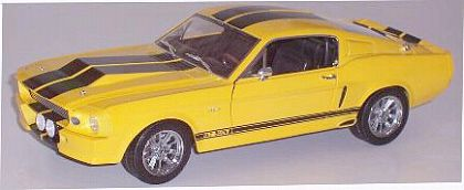 1967 ELEANOR Shelby Mustang G.T.500E • Yellow with Black stripes • #DC500E07