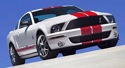 ''RED Package'' Shelby GT500 in White with Red stripes, Item #DC7500014
