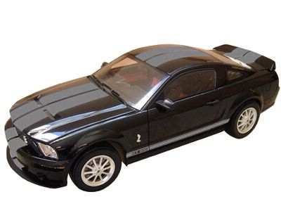 2007 Shelby GT500 in Black with Silver stripes, Item #DC75006