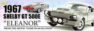Item DC500E ELEANOR from the movie 'Gone in 60 Seconds' starring Nicolas Cage