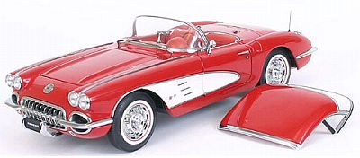 Item AA-71141 Roman Red 1959 Corvette Convertible with removable Hardtop