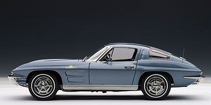 1963 Chevrolet Corvette Sting Ray Sport Coupe • Silver-Blue exterior Black interior • #AA71182