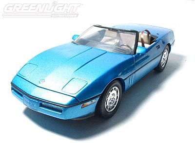1986 Corvette convertible Nassau blue Limited edition of 500; Item #GL18802