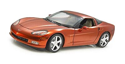 C6 Corvette Coupe Daytona Sunset Orange metallic item H2754
