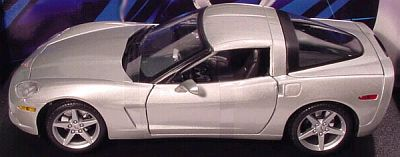 C6 Corvette coupe silver by Maisto item 31117silver