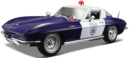 C2 Corvette Sting Ray Coupe Police • Blue-White • #MAI31381