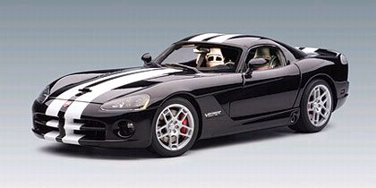 Dodge Viper SRT-10 Coupe - Black/White stripes - Item #AA71712