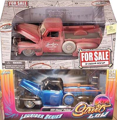 1951 Chevy Pickup Unrestored and Restored versions 2-pack, item #JT91795bb