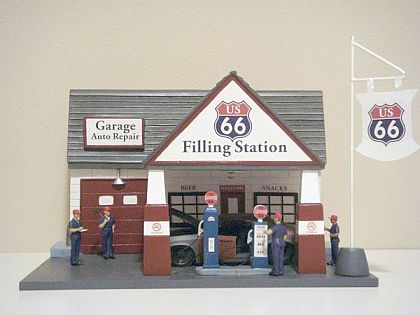 US66 Gas Station • Diorama • #AD15907