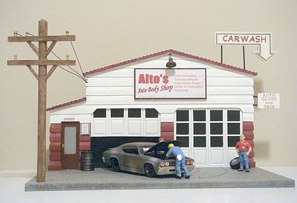Auto Body Shop • Diorama • #AD15914