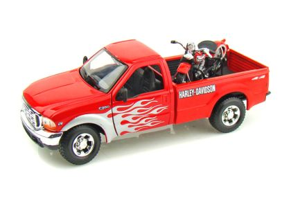1999 Ford F350 Harley Davidson Truck 1/24 & 1936 Harley-Davidson Knucklehead Motorcycle • #MA32161RD