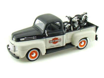 1948 Ford F1 Harley Davidson Truck 1/24 & 1948 Harley-Davidson Knucklehead Motorcycle • #MA32171BW