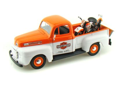 1948 Ford F1 Harley Davidson Truck 1/24 & 1948 Harley-Davidson FLH Panhead Motorcycle • #MA32171OW
