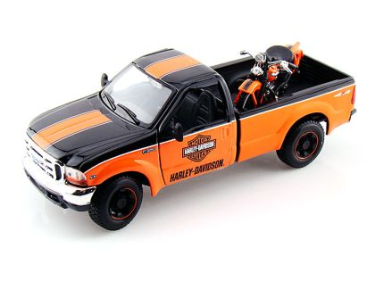 1999 Ford F350 Harley Davidson Truck 1/24 & 1936 Harley-Davidson Knucklehead Motorcycle • #MA32172OB
