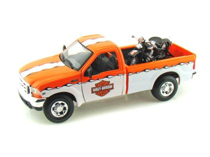 1999 Ford F350 Harley Davidson Truck 1/24 & 1936 Harley-Davidson Knucklehead Motorcycle • #MA32172OW