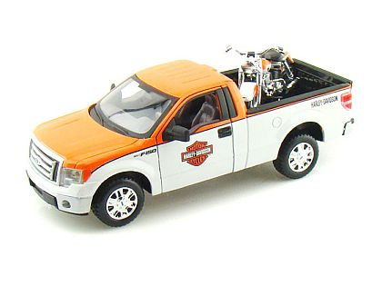 2010 Ford F150 Harley Davidson Truck 1/24 & 1958 FLH Duo Harley-Davidson Motorcycle • #MA32173OW