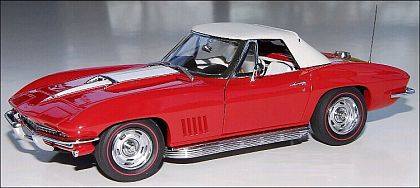1967 Corvette Sting Ray Convertible, Rally Red, Item #DM1513