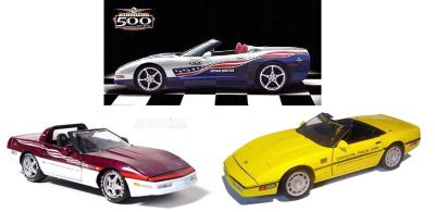 INDY 500 Corvette Pace Cars from 1986, 1995 and 2004 special package deal item 24PC-Set2