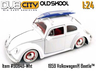 VW 1959 Beetle with Surfboard item #JT90849. Various colors available