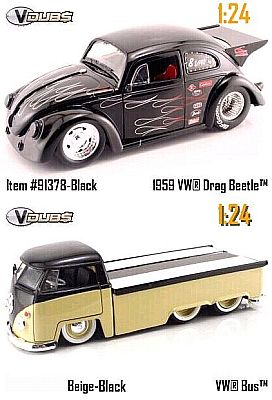 1959 VW Drag Beetle inclusive VW Transporter with sliding bed, Item #JT91378blk