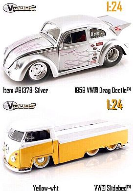 1959 VW Drag Beetle inclusive VW Transporter with sliding bed, Item #JT91378sil
