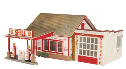 SHELL Country Gas Station - Diorama - #MTH30-90300